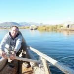 Titicaca - sur le bateau en roseaux