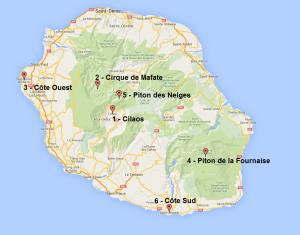 Carte Réunion