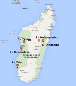 Carte Madagascar