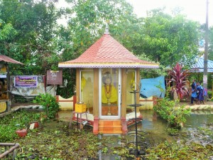 Kerala backwaters - Temple gourou