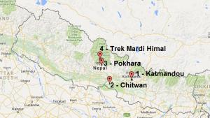 Carte Népal
