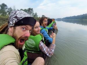 Chitwan - En pirogue