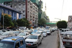 Rangoun - Embouteillages
