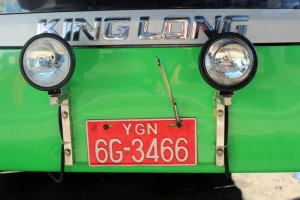 Rangoun - Bus bénit à l'encens