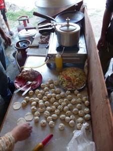 Pokhara - Fabrication de momos