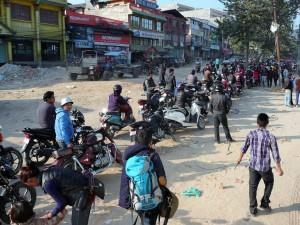 Katmandou - Pénurie essence