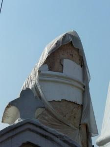 Katmandou - Reste de la tour Bhimsen