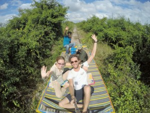 Battambang - Train de bambou