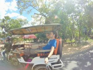 Angkor - En tuk tuk