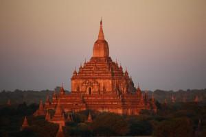 Bagan - Coucher de soleil