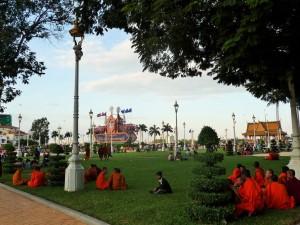 Phnom Penh - Parc du palais royal