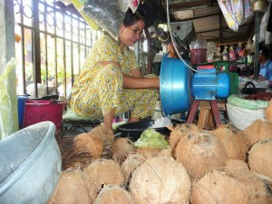 Battambang - Lait de coco
