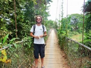 Battambang - Pont suspendu