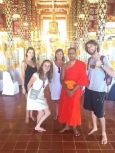 Chiang Mai - Avec les moines