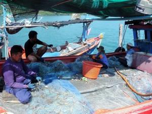 Koh Kood - Pêcheurs de crabes