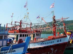 Koh Kood - Bateau de pêche aux calamars