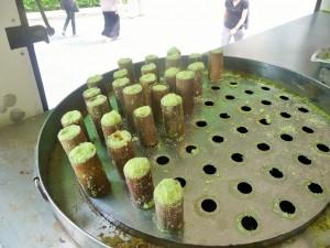 Kuala Lumpur - Dessert dans des bambous