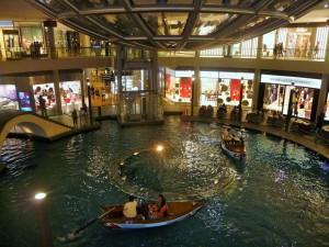 Centre commercial comme à Venise