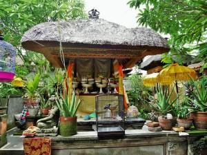 Ubud -  Temple chez nos hôtes