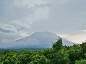 Tulamben - Vue sur le volcan