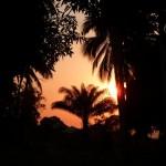 Coucher de soleil Lagune Fernand Vaz