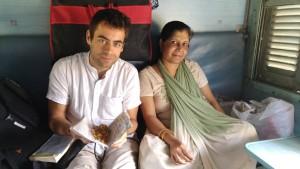 Dans le train pour Agra