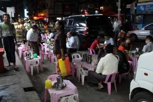 Rangoun - Restaurant de rue