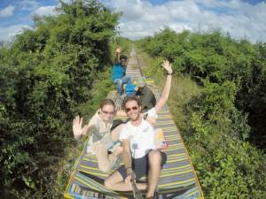 Battambang - Train de bambou
