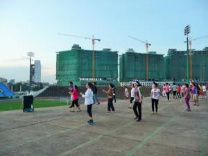 Phnom Penh - Cours de fitness style Cambodge