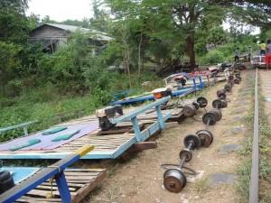 Battambang - Gare de train de bambou