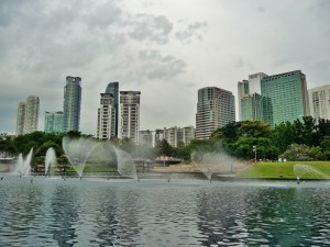 Kuala Lumpur - Jardin des tours Petronas