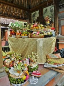 Ubud - Offrande pour le mariage