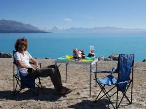 Petit déjeuner au bord du Lac Pukaki